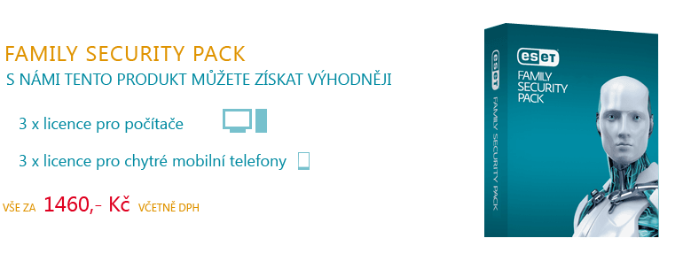 ESET FAMILY SECURITY PACK ZA VÝHODNOU CENU